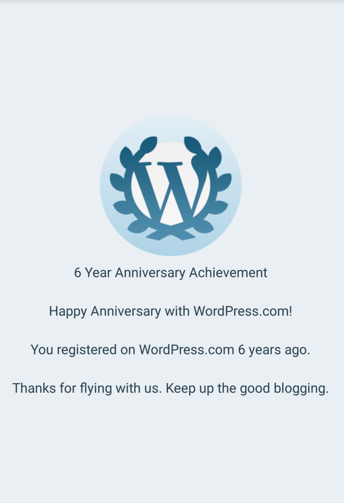 6th Blogoversary