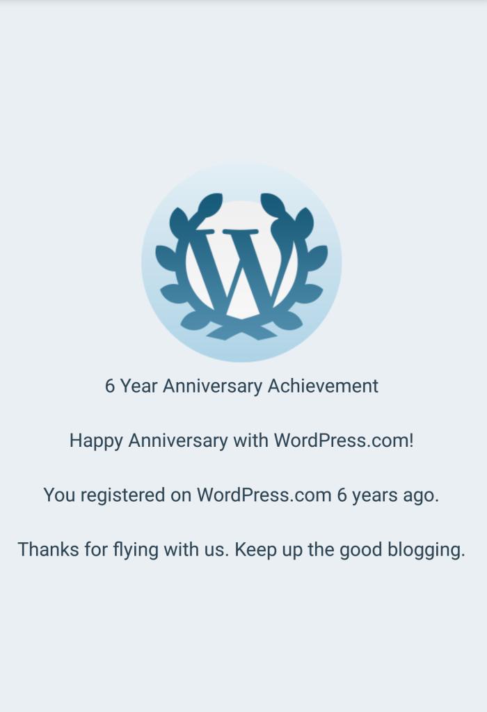 6th Blogoversary
